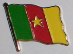 Cameroon Country Flag Enamel Pin Badge